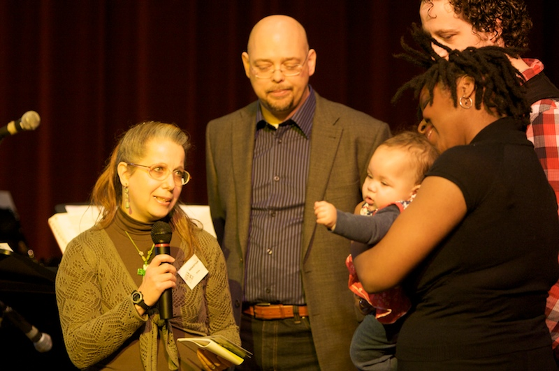 Wilma met Piet, Jennifer en Martin